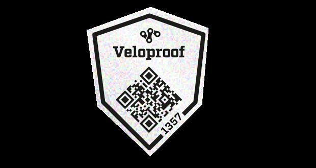 Veloproof cykelregister, cykeldekal med unik qr-kod